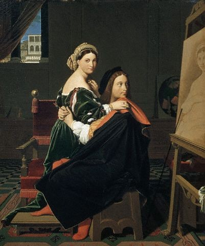 Raphael and the Fornarina - Jean Auguste Dominique Ingres