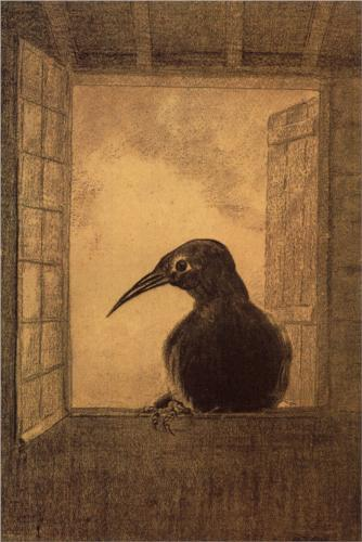 The Raven - Odilon Redon
