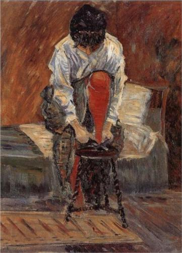 Red Silk Stockings - Paul Signac