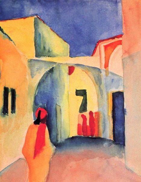 Regard Sur La Ruelle - August Macke