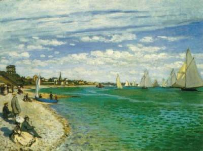 Regatta at Sainte Adresse - Claude Monet