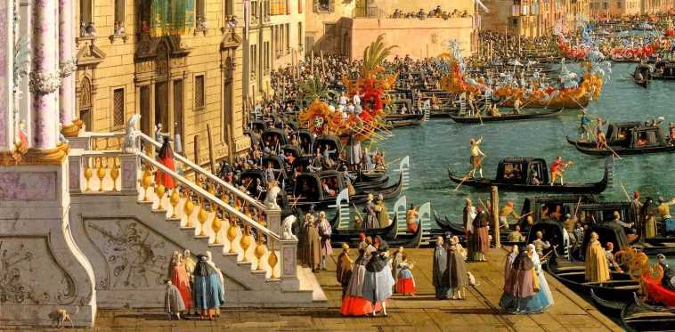 Regatta on the Grand Canal - Canaletto
