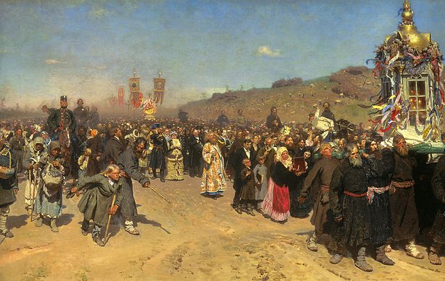 Religious Procession in Kursk Province - Ilya Repin