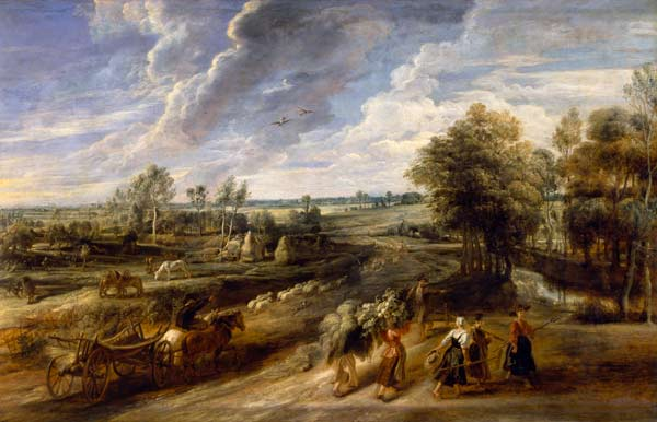 Return of the Peasants from the Fields - Peter Paul Rubens