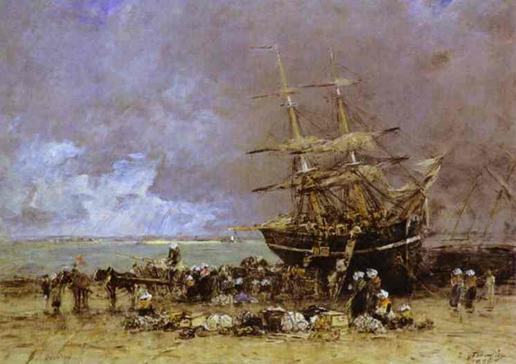Return of the Terre Neuvier - Eugene Boudin