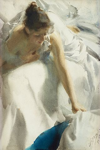 Reveil the artists wife - Anders Zorn