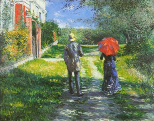 Rising Road - Gustave Caillebotte