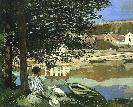 River Scene at Bennecourt - Claude Monet