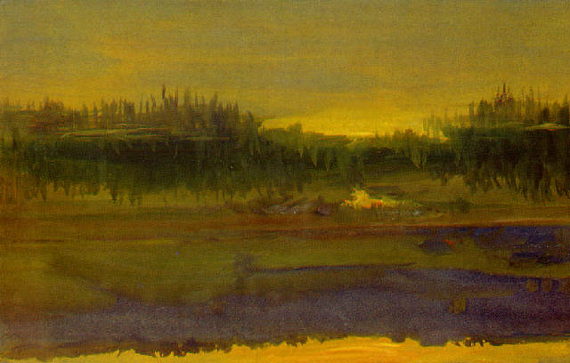 River Sunset - Otto Stark