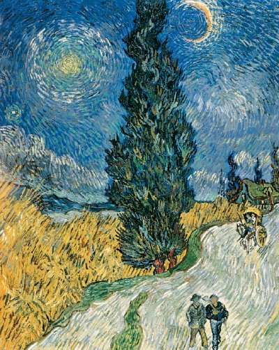 Road with Cypress and Star - Vincent Van Gogh
