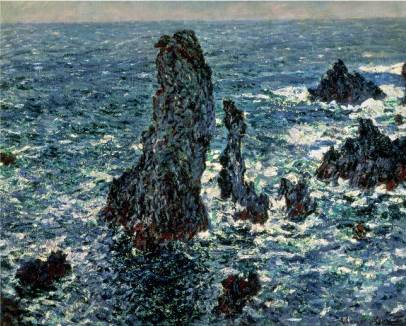 Rocks at Belle Ile - Claude Monet