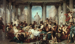 Romans in the Decadence of the Empire - Thomas Couture