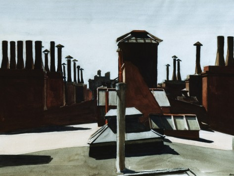 Roofs of Washington Square - Edward Hopper