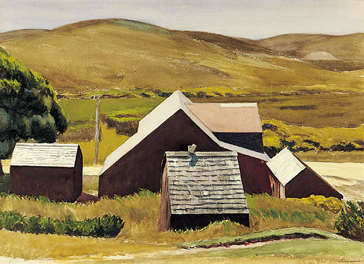 Roofs of the Cobb Barn - Edward Hopper