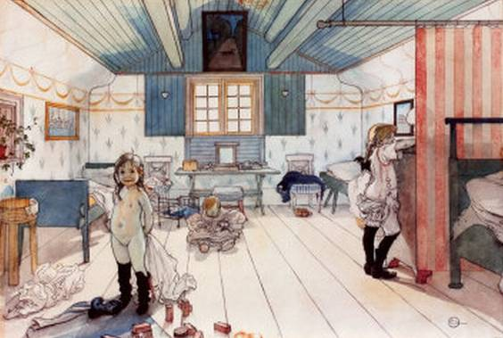 Room of Mammy and the Small Girls - Carl Larsson