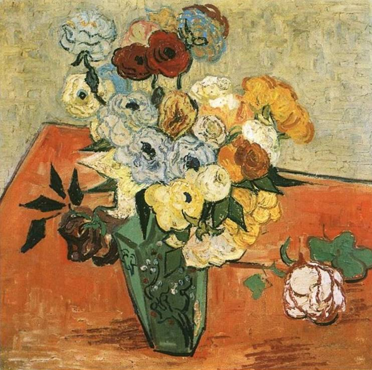 Roses and Anemones - Vincent Van Gogh
