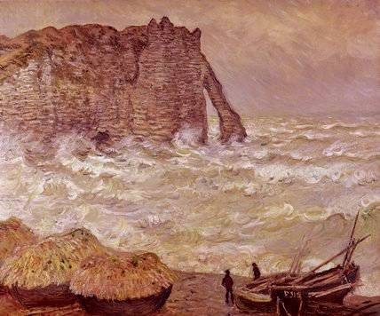 Rough Seas at Etretat - Claude Monet