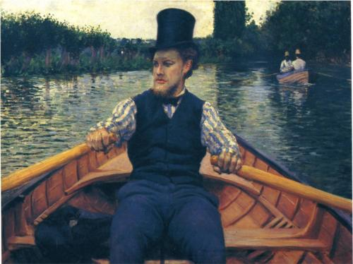Rower in a Top Hat - Gustave Caillebotte