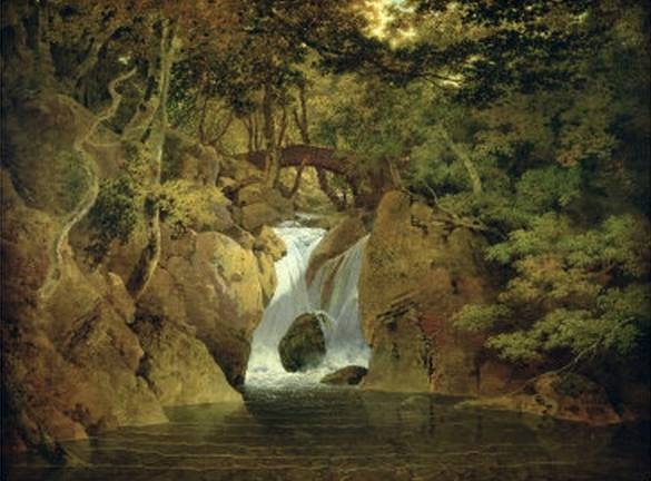 Rydal Waterfall - Joseph Wright of Derby