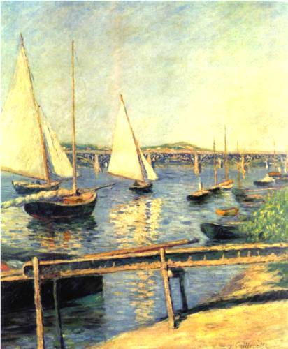 Sailing Boats at Argenteuil - Gustave Caillebotte