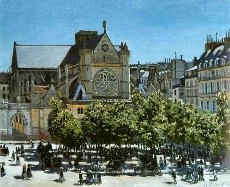 Saint Germain l'Auxerrios - Claude Monet