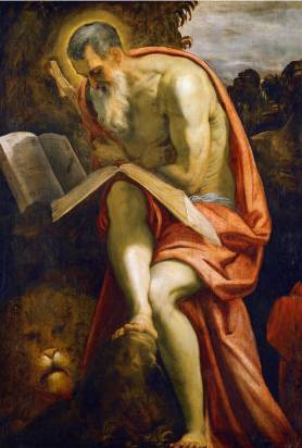 Saint Jerome - Jacopo Robusti Comin Tintoretto