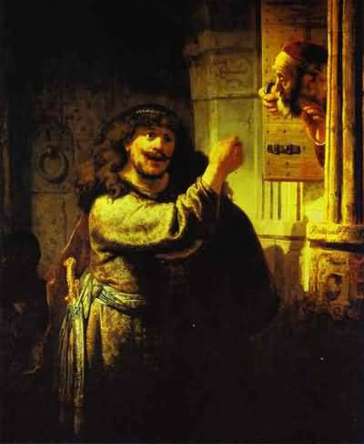 Samson Accusing His Father-in-Law - Rembrandt van Rijn