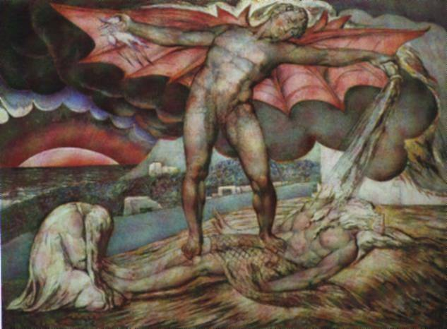 Satan Inflicting Boils on Job - William Blake