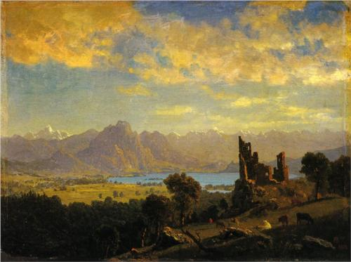 Scene in the Tyrol - Albert Bierstadt
