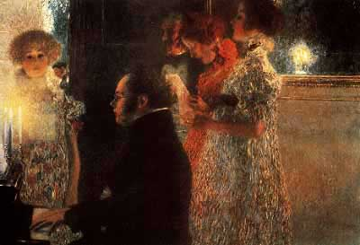 Schubert at the Piano - Gustav Klimt
