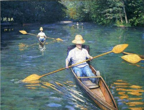 Sculls - Gustave Caillebotte