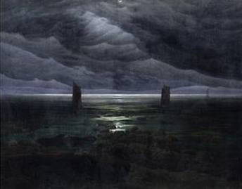 Sea Shore in Moonlight - Caspar David Friedrich