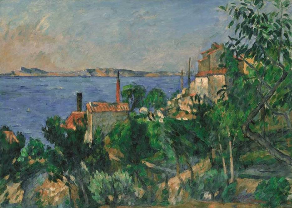 Sea at l'Estaque - Paul Cezanne