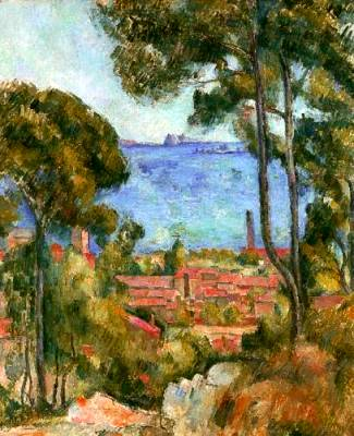 Sea near L Estaque - Paul Cezanne