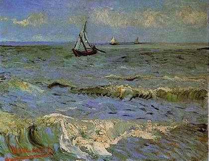Seascape of Saintes Maries - Vincent van Gogh