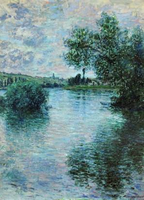 Seine at Vétheuil - Claude Monet
