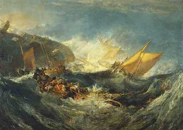 Shipwreck of the Minotaur - Joseph Mallord William Turner