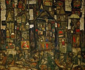 Shrines in the Wood - Egon Schiele