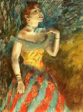 Singer in Green - Edgar Degas