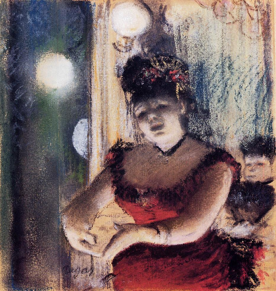 Singer in a Cafe Concert - Edgar Degas