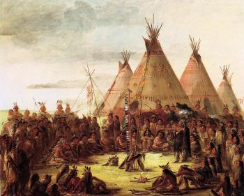 Sioux War Council - George Catlin