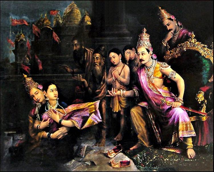 Raja Ravi Varma Painting Reproductions For Sale  Canvas -2095