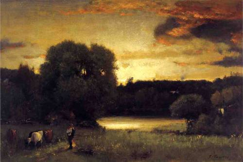 Slow Fading Day - George Inness