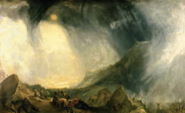 Snow Storm, Hannibal and his Army Crossing the Alps - Joseph Mallord William Turner