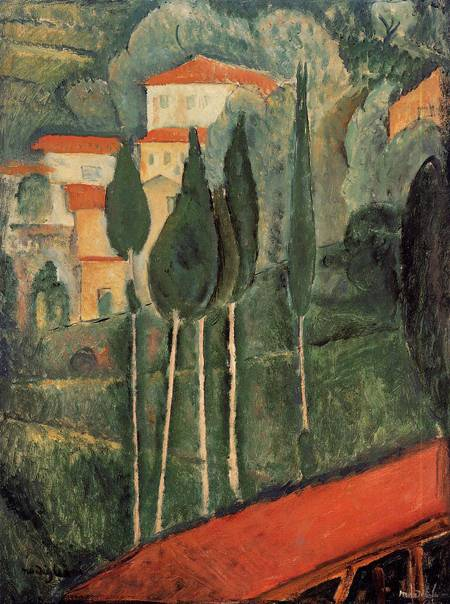 Southern France Landscape - Amedeo Modigliani