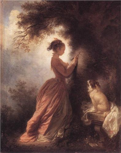 The Souvenir - Jean Honore Fragonard