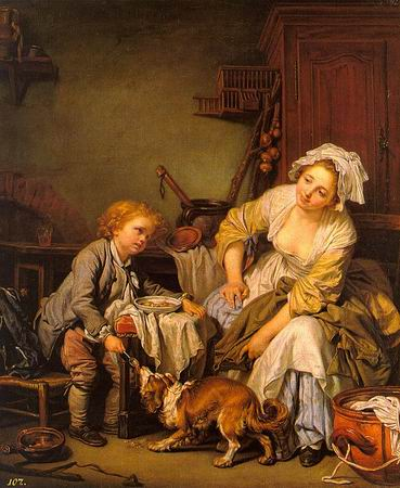 The Spoiled Child - Jean Baptiste Greuze