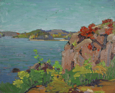 Spring Lake (Rocks and Water) - Tom Thomson