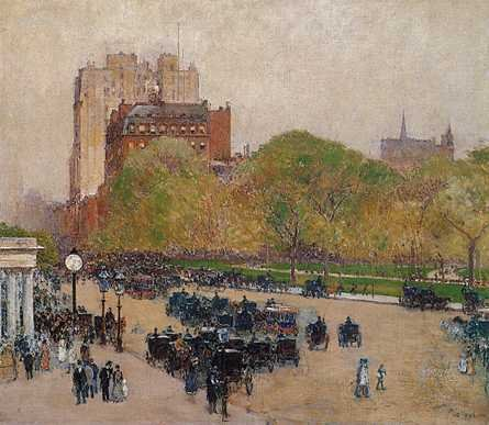 Spring Morning in the Heart of the City - Childe Hassam