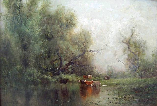Springtime at the Water's Edge - Arthur Parton